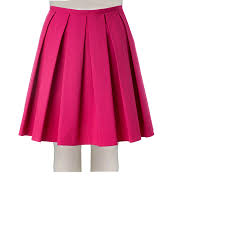 cotton skirts pink stretch cotton boxed pleated skirt elizabeth s custom