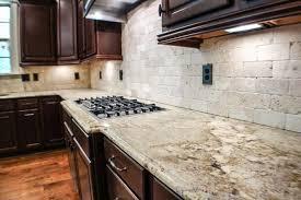 kitchen backsplashes with granite countertops granite countertop grey color kitchen cabinets faux tin tiles