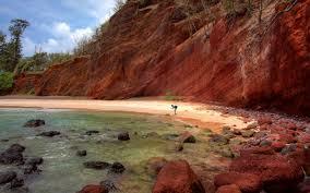 Red Landscape Rock by Free Images Beach Landscape Sea Coast Nature Rock Shore