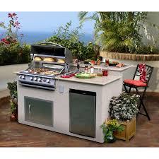 outdoor kitchen furniture cal outdoor kitchen 4 burner barbecue grill island with