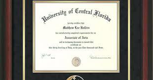 ucf diploma frame ucf diploma frame rosewood pegasus cutout black on gold