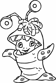 cartoon monster coloring pages newcoloring123