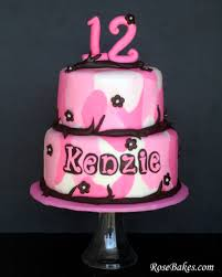 a girly pink u0026 brown camo cake