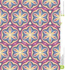 vector seamless mosaic ornaments stock vector illustration of