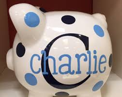 monogrammed piggy bank personalized piggy bank piggy bank childrens piggy bank