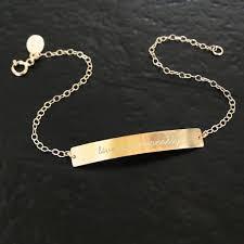 customized gold bracelets white gold engraved bracelet best bracelets