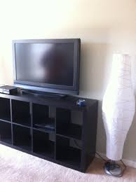 furniture black ikea expedit bookcase with tv stand ideas with