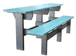 Poly Picnic Tables by Creekside Poly Park Bench And Picnic Table Set From Dutchcrafters