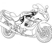 Coloriage Moto de course Suzuki dessin gratuit à imprimer