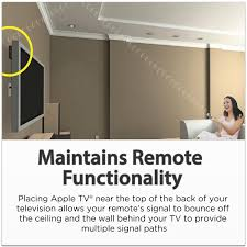 Best Way To Hide Wires From Wall Mounted Tv Amazon Com Totalmount Apple Tv Mount Compatible With 2nd And 3rd