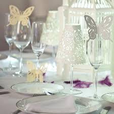 flutterby wine glass stem decorations white hanging lantern