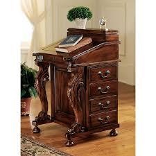 Chinoiserie Secretary Desk by Captain Davenport Antique Reproduction Desk Secretary Business
