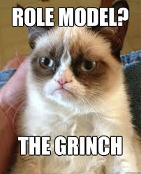 Grinch Meme - role model the grinch cat meme cat planet cat planet