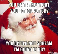Santa Meme - merry christmas bite the pillow know your meme