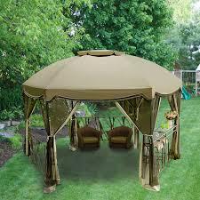 Gazebo With Bar Table Garden Oasis Grandview Hexagon Replacement Canopy Garden Winds