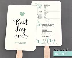 wedding programs fans templates best day wedding program fan cool colors