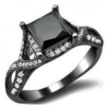 black ring princess cut black diamond rings wedding promise diamond