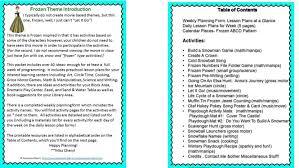 frozen inspired preschool theme math lesson plans pdf pre elipalteco