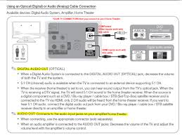 connect tv audio to home theater i have had a samsung ln46c630k1f tv for a couple of years i have