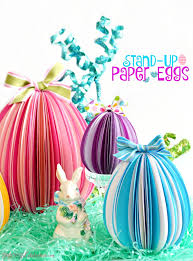 Easter Hanging Decorations To Make by Stand Up Paper Eggs Easter Egg And Unique