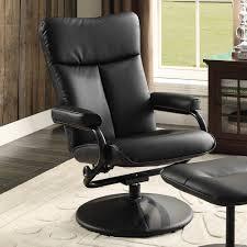 swivel recliner homelegance alida swivel reclining chair w ottoman in black