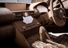 Cardboard Origami - lexus unveils fully drivable cardboard car