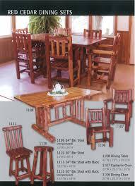 dining room tables sets manataka ozark cedar furniture