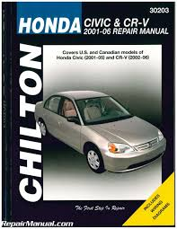 chilton honda civic and cr v repair manual