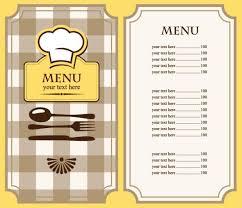 Free Printable Restaurant Menu Template free restaurant menu template free eps file set of cafe and