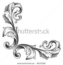 royalty free vintage baroque frame scroll ornament 394350181