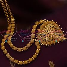 chain necklace design images Nl8437 fancy ball emboss design chain necklace gold plated JPG