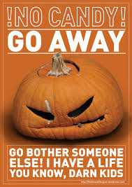 halloween go away signs u2013 fun for halloween