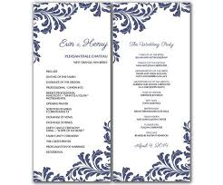 vintage wedding program template emejing word wedding program template contemporary styles