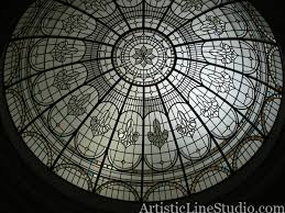 artistic line studio stained and leaded glass custom domes