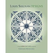 louis sullivan louis sullivan designs embossed note card set u2013 lacma store