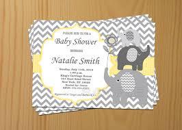 baby shower invitations elephant theme cloveranddot com