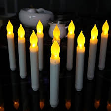 10 battery led taper candles flameless electric led