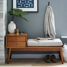 west elm entry table west elm mid century storage bench