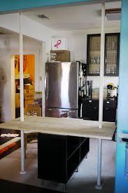 ikea hack the diy kitchen table storage shelves room divider