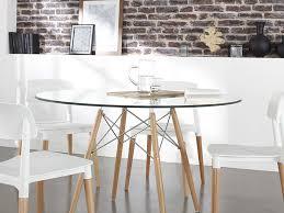 table de cuisine ronde en verre chaise design rétro siri tables and interiors