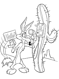 coloring pages spot wile e coyote coloring page looney tunes spot coloring pages