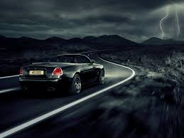 roll royce night bolder in black