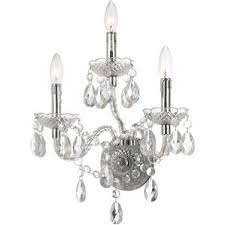 Crystal Candle Sconce Glam Sconces You U0027ll Love Wayfair