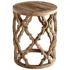 Quatrefoil Side Table Furniture Wood Quatrefoil Coffee Table Earthy Chic