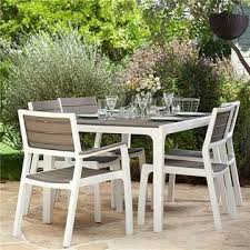 Cappuccino Dining Room Furniture 226342 Keter Harmony White Cappuccino Modern Outdoor Patio Dining