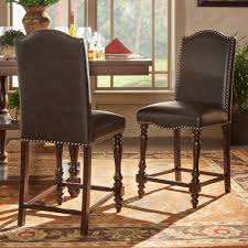 homesullivan tarantino 24 in espresso cushioned bar stool set of