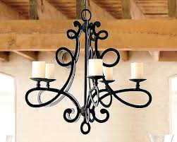 Candle Chandelier Pottery Barn Wrought Iron Candle Chandelier Lighting Eimat Co
