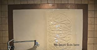 stenciling with plaster my heart lives here