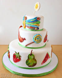 very hungry caterpillar cake sugarhero