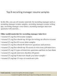 recruiting manager resume template recruiter sle resume node2004 resume template paasprovider